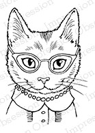 Impression Obsession - Cling Mounted Rubber Stamp - By Carmen Medlin - Smart Kitty