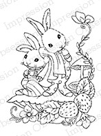 Impression Obsession - Cling Mounted Rubber Stamp - By Carmen Medlin - Woodland Sibblings