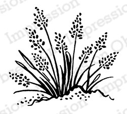 Impression Obsession - Cling Mounted Rubber Stamp - By Tara Caldwell - Sea Grass Cluster