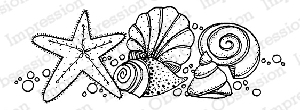 Impression Obsession - Cling Mounted Rubber Stamp - By Lindsay Ostrom - Shellfish