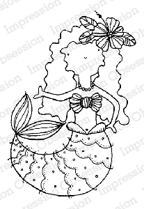 Impression Obsession - Cling Mounted Rubber Stamp - By Lindsay Ostrom - Mermaid Jessi