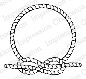Impression Obsession - Cling Mounted Rubber Stamp - By Alesa Baker - Rope Circle Frame