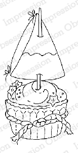 Impression Obsession - Cling Mounted Rubber Stamp - By Alesa Baker - Sweet Sailing Cupcake