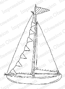 Impression Obsession - Cling Mounted Rubber Stamp - By Alesa Baker - Sweet Sailing