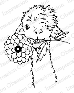 Impression Obsession - Cling Mounted Rubber Stamp - By Gail Green - Dahlia Llama