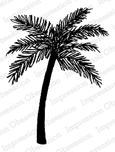 Impression Obsession - Cling Mounted Rubber Stamp - By Tara Caldwell - Palm Tree