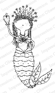 Impression Obsession - Cling Mounted Rubber Stamp - By Lindsay Ostrom - Mermaid Elysse