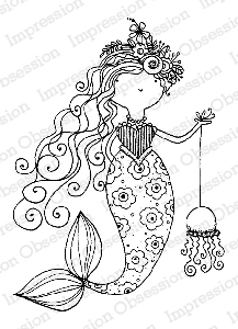 Impression Obsession - Cling Mounted Rubber Stamp - By Lindsay Ostrom - Mermaid Beeski