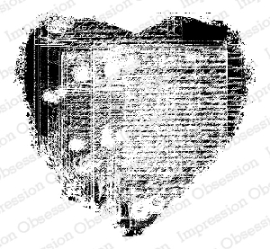 Impression Obsession - Cling Mounted Rubber Stamp - By Rebekah Meier - Heart