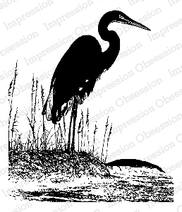 Impression Obsession - Cling Mounted Rubber Stamp - By Tara Caldwell - Shore Heron