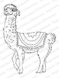 Impression Obsession - Cling Mounted Rubber Stamp - By Gail Green - Happy Llama