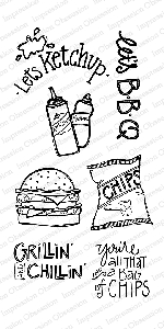 Impression Obsession - Clear Stamp - By Nola Chandler - Let's BBQ