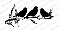 Impression Obsession - Cling Mounted Rubber Stamp - By Tara Caldwell - Birds on Branch