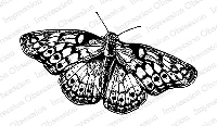 Impression Obsession - Cling Mounted Rubber Stamp - By Tara Caldwell - Butterfly
