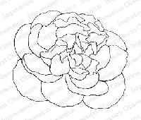 Impression Obsession - Cling Mounted Rubber Stamp - By Tara Caldwell - Peony Outline