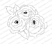 Impression Obsession - Cling Mounted Rubber Stamp - By Alesa Baker - Lovely Soft Roses