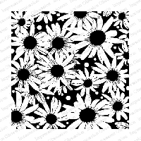 Impression Obsession - Cover A Card - Blackeyed Susan Cling Mounted Rubber Stamp