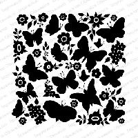 Impression Obsession - Cover A Card - Butterfly Garden Cling Mounted Rubber Stamp