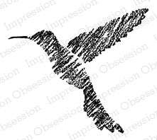 Impression Obsession - Cling Mounted Rubber Stamp - By Alesa Baker - Chalk Hummingbird
