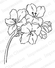 Impression Obsession - Cling Mounted Rubber Stamp - By Alesa Baker - Frilly Floral 2