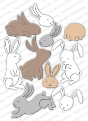 Impression Obsession - Die - Bunny Poses