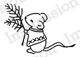 Impression Obsession - Cling Mounted Rubber Stamp - By Alesa Baker - Woodlawn Mouse