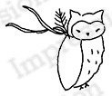 Impression Obsession - Cling Mounted Rubber Stamp - By Alesa Baker - Woodlawn Owl