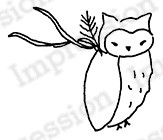 Impression Obsession - Cling Mounted Rubber Stamp - By Alesa Baker - Woodlawn Owl Large