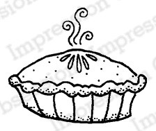 Impression Obsession - Cling Mounted Rubber Stamp - By Lindsay Ostrom - Pumpkin Pie