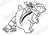 Impression Obsession - Cling Mounted Rubber Stamp - By Alesa Baker - Woodlawn Chipmunk