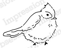 Impression Obsession - Cling Mounted Rubber Stamp - By Alesa Baker - Fluffy Cardinal