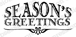 Impression Obsession - Cling Mounted Rubber Stamp - By Dina Kowal - Season's Greetings