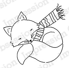 Impression Obsession - Cling Mounted Rubber Stamp - By Alesa Baker - Woodlawn Sleeping Fox
