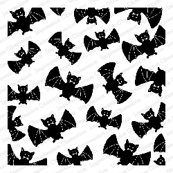 Impression Obsession - Cling Mounted Rubber Stamp - Cover A Card - Batty