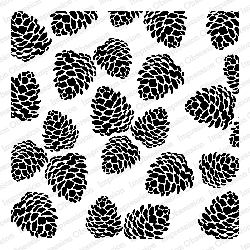 Impression Obsession - Cling Mounted Rubber Stamp - Cover A Card - Pinecones