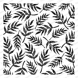 Impression Obsession - Cling Mounted Rubber Stamp - Cover A Card - Sketched Palm Leaves