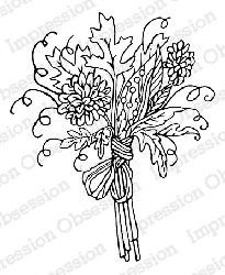Impression Obsession - Cling Mounted Rubber Stamp - By Carmen Medlin - Autumn Bouquet