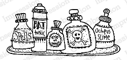 Impression Obsession - Cling Mounted Rubber Stamp - By Lindsay Ostrom - Potion Jars