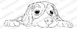 Impression Obsession - Cling Mounted Rubber Stamp - By Dina Kowal - Floppy Pup