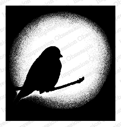 Impression Obsession - Cling Mounted Rubber Stamp - By Tara Caldwell - Halo Bird
