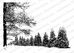 Impression Obsession - Cling Mounted Rubber Stamp - By Tara Caldwell - Wintery Day