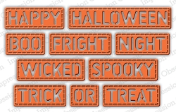 Impression Obsession - Die - Halloween Stitched Words
