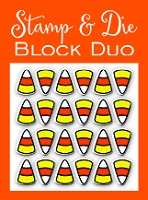Impression Obsession - Die & Stamp Duo - Candy Corn Block