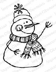 Impression Obsession - Cling Mounted Rubber Stamp By Lindsay Ostrom - Snowman