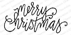 Impression Obsession - Cling Mounted Rubber Stamp By Lindsay Ostrom - Merry Christmas Light