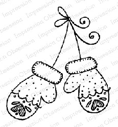 Impression Obsession - Cling Mounted Rubber Stamp By Lindsay Ostrom - Nordic Mittens