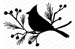 Impression Obsession - Cling Mounted Rubber Stamp By Gail Green - Cardinal Silhouette