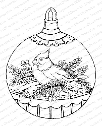 Impression Obsession - Cling Mounted Rubber Stamp By Tara Caldwell - Snowbird Ornament