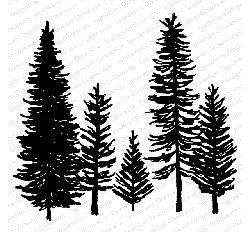 Impression Obsession - Cling Mounted Rubber Stamp By Gail Green - Forest Trees