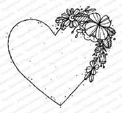 Impression Obsession - Heart Cascade Cling Mounted Rubber Stamp By Lindsay Ostrom
